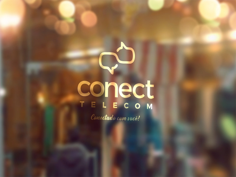 Criação logotipo Conect Telecom