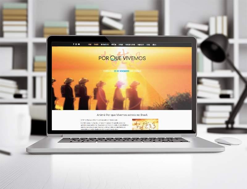 Lançamento website Porque vivemos