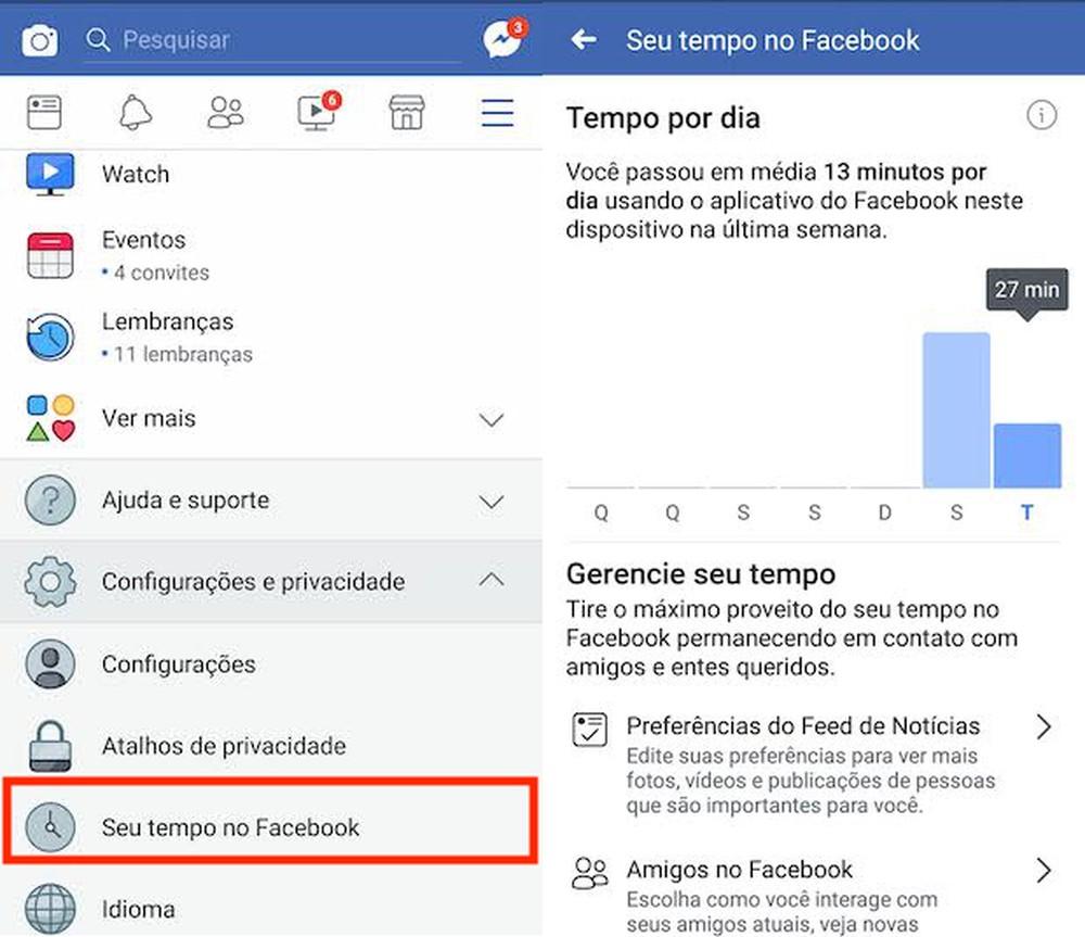 Facebook: como controlar o tempo que você passa acessando a rede social pelo celular
