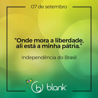 Campanha Blank – Independência do Brasil 2019