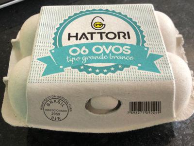 Hattori – embalagem para seis ovos
